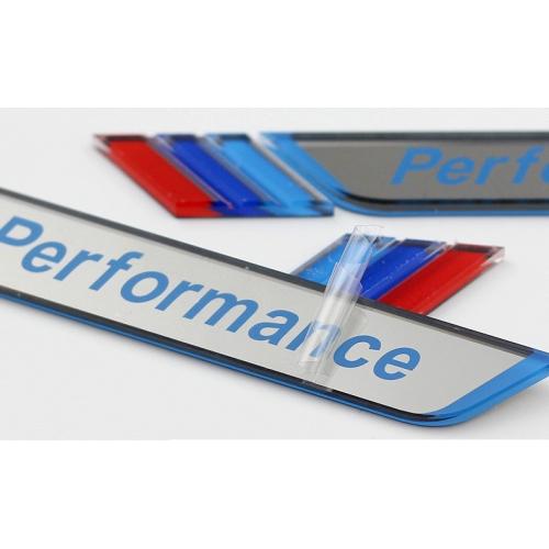 Bmw m performance car window decorative sticker white